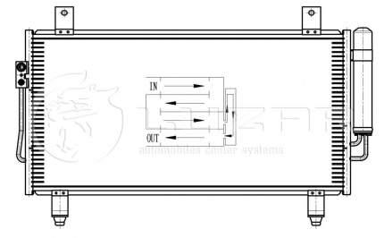 Радиатор кондиционера Luzar для Mitsubishi Outlander 2012- LRAC1162