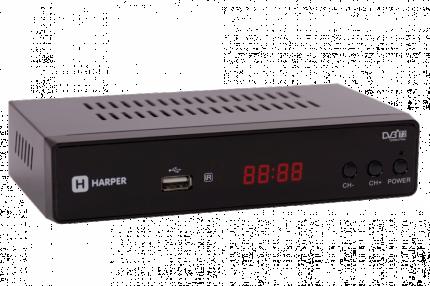 DVB-T2 приставка Harper HDT2-5010 black