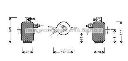 Радиатор кондиционера автомобильный Ava MSD003