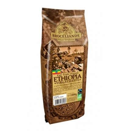 Кофе в зернах Broceliande Ethiopia yirgacheffe броселианд Эфиопия иргачиф 1 кг
