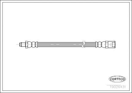 Шланг тормозной CORTECO 19026431
