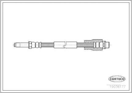 Шланг тормозной CORTECO 19036177