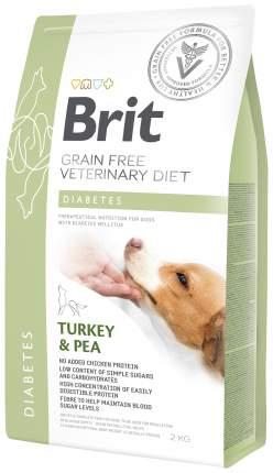 Сухой корм для собак Brit Veterinary Diet Diabetes, при диабете, индейка, горох, 2кг