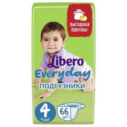 Подгузники Libero Everyday Size 4 (7-18кг), 66 шт.