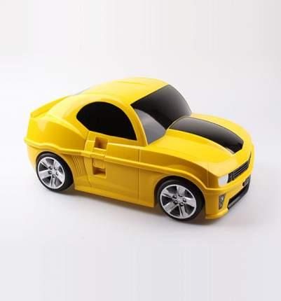 Чемодан детский Котофей Машинка желтая желтый