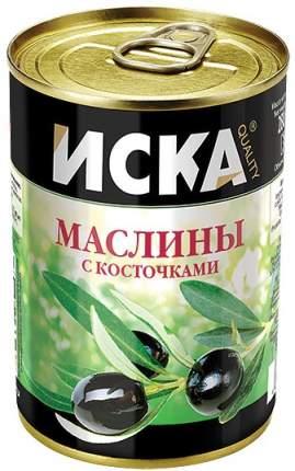 Маслины Iska черные с костью 300 мл