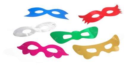 Набор детских масок Snowmen Е0307 Синий, зеленый, красный, золотистый, розовый, белый