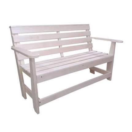 Скамейка со спинкой и подлокотниками Лесодар, 1100х320х420мм