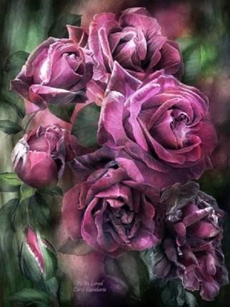 Живопись по номерам Paintboy Лиловые розы GX7922