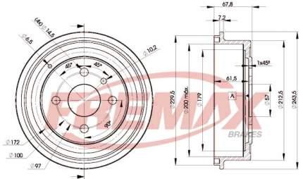 Тормозной барабан FREMAX BD-8958