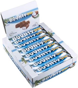 Шоколадный батончик Bounty Trio 24 шт по 82.5 г