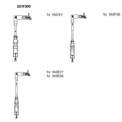 Комплект проводов зажигания BREMI 221F200