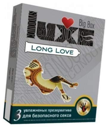 Презервативы Luxe Long Love с пролонгирующим эффектом 3 шт.