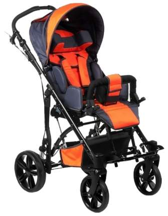 Кресло-коляска Meyra Junior для детей ДЦП оранжевый-серый пневматические