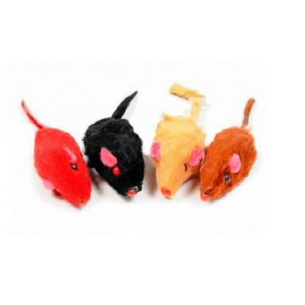 Мягкая игрушка для кошек Triol мышь, в ассортименте, 5 см, 4 шт.