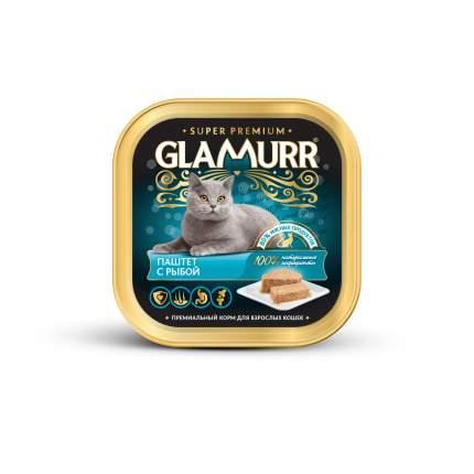 Консервы для кошек Glamurr Super Premium, паштет с рыбой, 100г