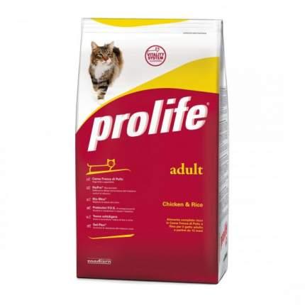 Сухой корм для кошек Prolife Adult, курица и рис, 6шт по 1,5кг
