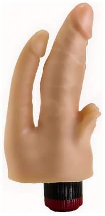 Двойной анально-вагинальный гелевый вибратор 17 см