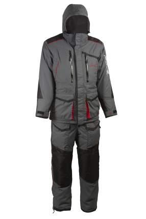 Костюм для рыбалки Huntsman Siberia, серый/черный, 44-46 RU, 166-174 см