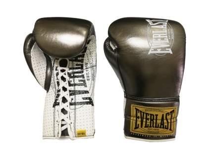 Перчатки боевые Everlast 1910 Classic золотистые 10 унций