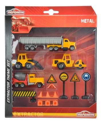 Набор строительной техники Majorette + дорожные знаки