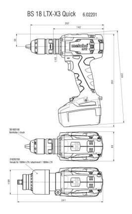 Аккумуляторная дрель-шуруповерт Metabo BS 18 LTX-X3 Quick 602201500