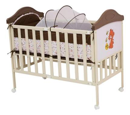 Кроватка BabyHit Sleepy Compact-coffee 120x60