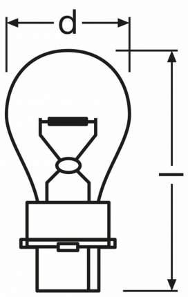 Лампа накаливания автомобильная OSRAM 27W (3156)