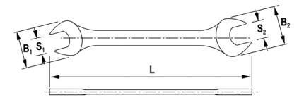 Рожковый ключ THORVIK OEW0607