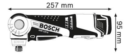 Аккумуляторная угловая дрель-шуруповерт Bosch GWI 10,8 V-LI 0601360U0D