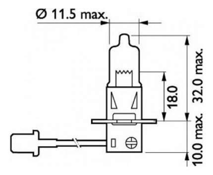 Лампа галогенная PHILIPS 100W PK22s 13628RAC1