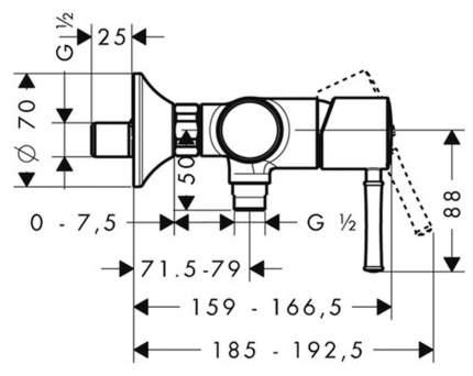 Смеситель для душа HansGrohe Talis Classic 14161000 хром