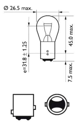 Лампа SCT 21W BA15d 202068