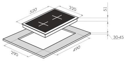 Встраиваемая варочная панель электрическая MAUNFELD MEHS.32.62S Silver