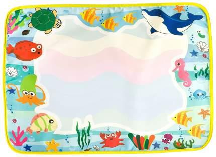 Раскраска Bondibon Подводный мир - многоразовая водная раскраска-коврик ВВ2378