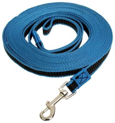 Поводок Зооник с латексной нитью синий 7 м 11441-3