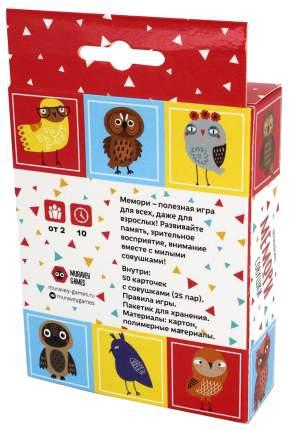 Семейная настольная игра Muravey Games Мемори Совушки ТК007