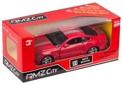Машина металлическая RMZ 1:32 Ford 2015 Mustang with Strip инерционная красный 554029C-RD