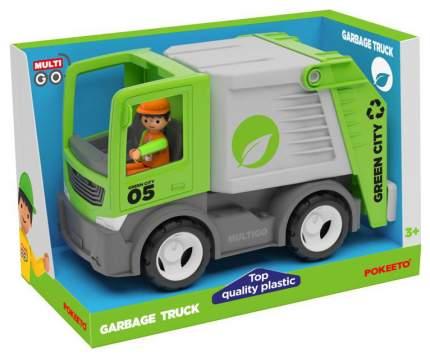 Городской мусоровоз с водителем