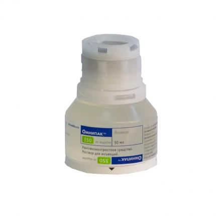 Омнипак (йогексол) р-р для ин. 350 мг/мл 50 мл 10 шт.