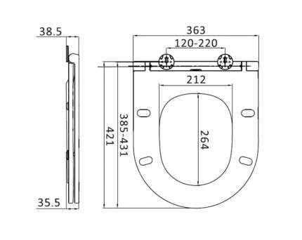 Крышка-сиденье Am.Pm Spirit V2.0 C707857WH с микролифтом