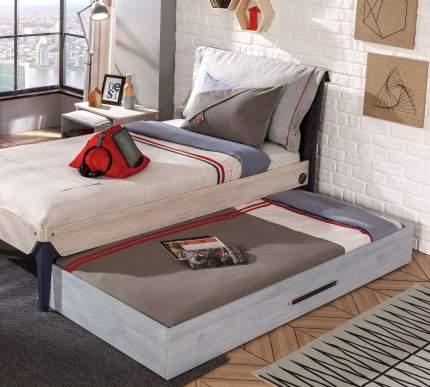Кровать выдвижная Cilek Trio 90х190 см, серый