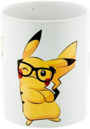 Керамическая кружка 3Dollara Покемон Пикачу с очками. MUG0118