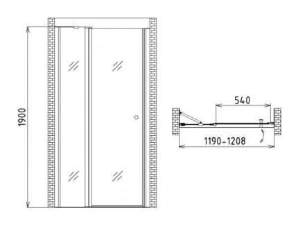 Душевая дверь gemy new rockcoco s03191c