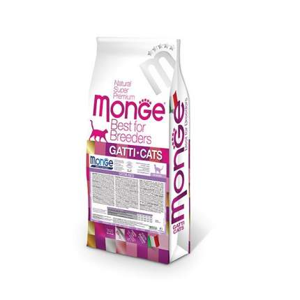Сухой корм для кошек Monge Sterilized, для стерилизованных, курица, 10кг