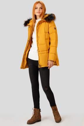 Пуховик женский Finn Flare A18-12065 желтый XL