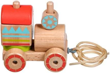 Lucy&Leo Паровозик-пирамидка | LL157 - деревянная машинка-пирамидка