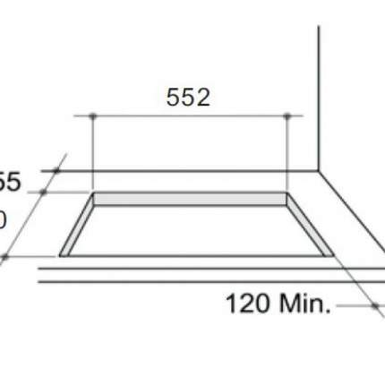 Встраиваемая газовая панель Zigmund & Shtain GN 208.61 A