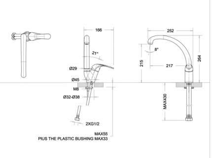 Смеситель для кухонной мойки BRAVAT F7135188CP-1-RUS