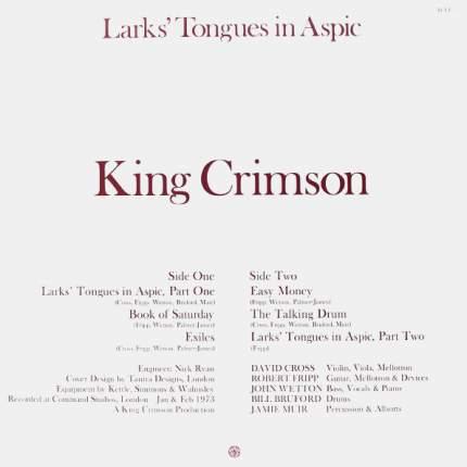 Виниловая пластинка King Crimson Larks' Tongues In Aspic (LP)
